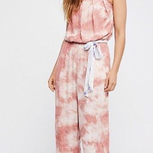 Free People boho pink jumpsuit